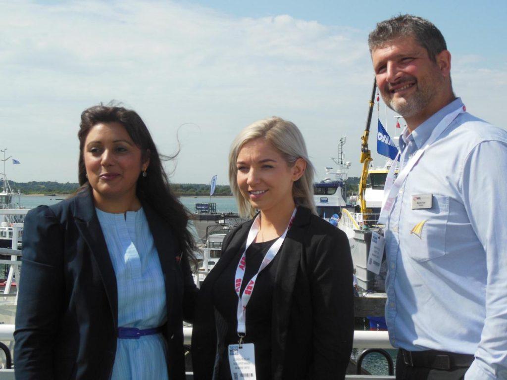 AMI Marine meet Nusrat Ghani MP at SeaWork
