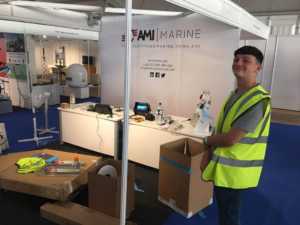 Apprentice Ollie at seaworks with AMI Marine