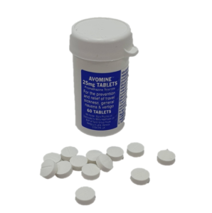 AVOMINE Anti-Seasickness Tablets (60 pills) square