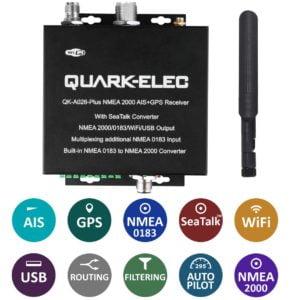 QK-A026-plus NMEA 2000 AIS Receiver with NMEA Multiplexer + N2K Converter + WiFi + GPS