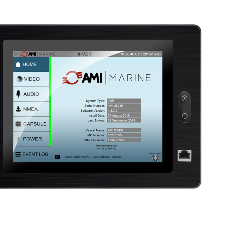 X2 VDR Touch Screen 9.7 from AMI Marine